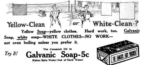advertentie Galvanic Soap 1911