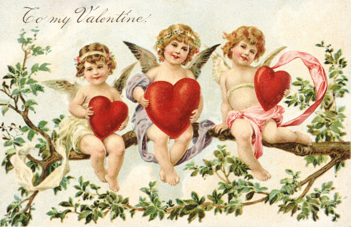 Valentine's Day card, Cupid