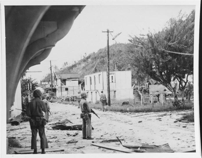Recapturing of Guam Invasion, July-August 1944.
