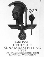 Poster of the 1937 Grosse Deutsche Kunstausstellung