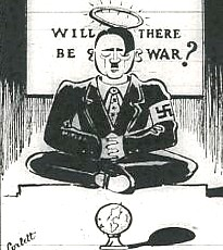 Hitler cartoon, 1939, USA