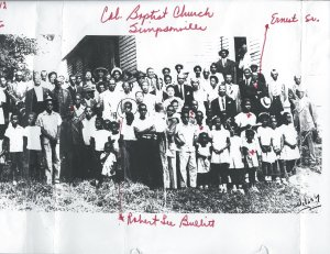 right side of photo of colored Baptist Church at Simpsonville