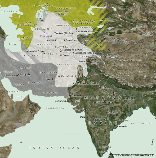 Map of Central Asia   India c 200 BC Map of Central Asia    India c 200 BC