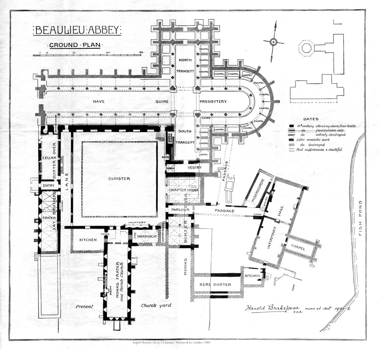 Historyfish Beaulieu Abbey Map
