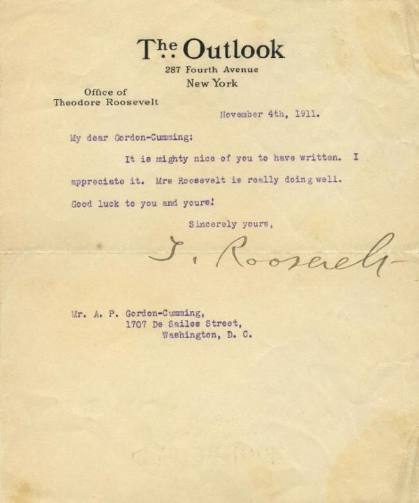 Autograph - 04-031 Theodore Roosevelt typed letter signed ...