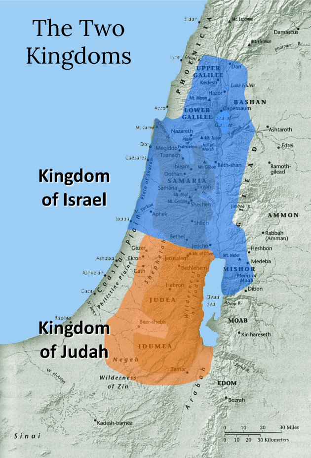 Image result for The Two Kingdoms of Judah and Israel