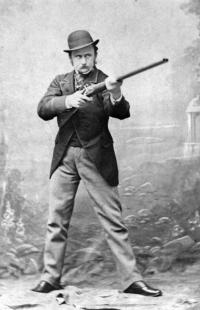'Captain' Charles Cunningham Boycott, photographed in London in 1863 in a typically sporting pose. The military title was an affectation: in fact his military career was limited. (Seán Sexton/Getty Images)