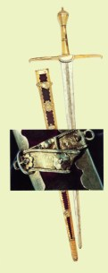 Sword carried by John Drake through the streets of Dublin, with the Catholic clergy praying thanks for winning against the O'Byrnes, O'Tooles and O' Meaghars