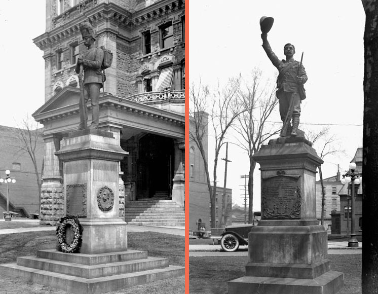 Sharpshooters' and Boer War memorials outside Ottawa City Hall.