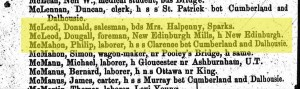 McLeod was a foreman, at least in 1868. Source: Sutherland's Ottawa City Directory, 1868.