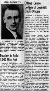 Meet your new chairman. Source: Ottawa Journal, April 8, 1940.