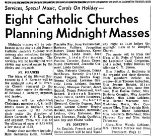 ...and in Fitchberg, Massachusetts. Source: Fitchberg Sentinel, December 21, 1963.