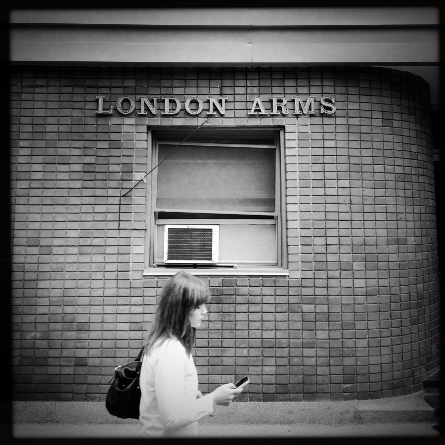 No, we're not in London. The London Arms Apartments, at 151 Metcalfe, was originally christened the Midtown Apartments. Image: September 2013.