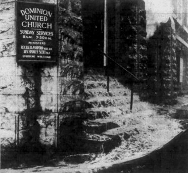 The gallons of water made no difference. Once the flames got a hold of the structure, that was it. Source: Ottawa Journal, February 6, 1961, Page 21.