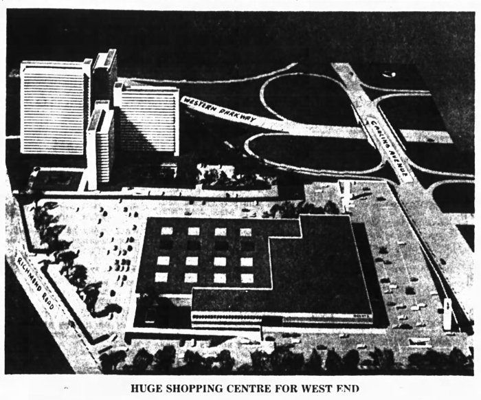 Modern. Convenient. Huge. Lincoln Fields would make Carlingwood a distant memory. Source: Ottawa Journal, November 15, 1965, Page 1.