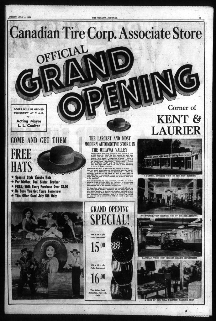 1952-07-04-Full-Page-Ad-Kent-Laurier-Grand-Opening-Page-11-Display