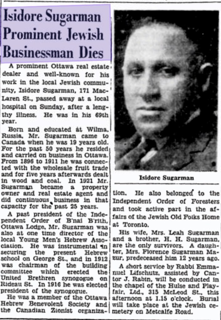 1946-12-02-Citizen-Isidore-Sugarman-Death-Page-2