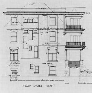 Elgin elevation. Source: Library and Archives Canada, Ben Albert Dore, Job 35