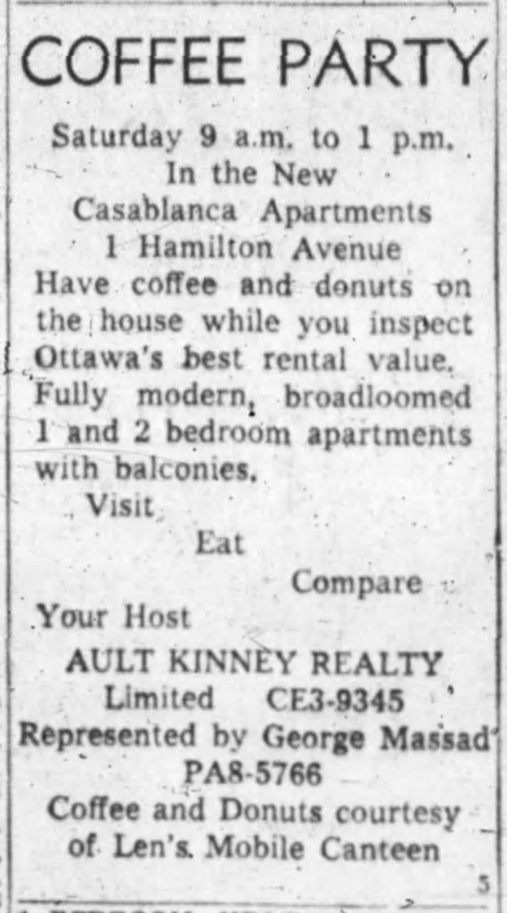 Steve Penfold would indicate the Golden Horsesho provenance of donut shop culture in Ontario. Perhaps the working class attraction to Canada's favourite pastry was nice widespread than assumed. Source: Ottawa Journal, November 30, 1962.