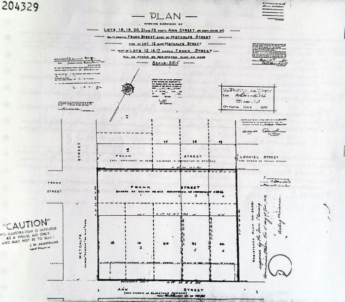 Plan 204329, May 1931. Source: Ottawa LRO Reel 4AR140.