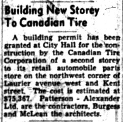 Source: Ottawa Journal, October 28, 1952.