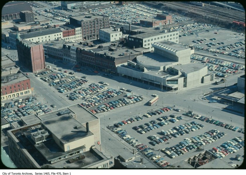 On some level, it may not have been entirely difficult to build a parking empire at a time when demolition was such a popular pastime. Image: City of Toronto Archives, Former City of Toronto Fonds (200), Urban Design Photographs Series (1465), File 470, Item 1 (197?).
