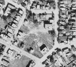 The lot, including Beechwood House, continued to fill in through the Second World War. Image: uOttawa / NAPL Flight A7194, Image No. 24.