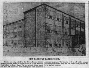 Parkway Park SS (Drury Lane). Source: Ottawa Journal, February 11, 1960, p. 31.