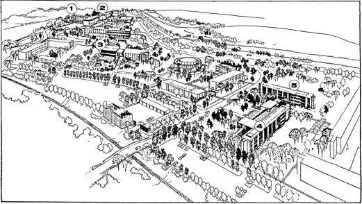 Campus Plan. Source: Ottawa Citizen, January 20, 1961, p. 13.