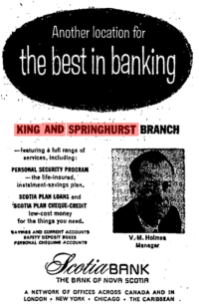 Source: Globe and Mail, May 8, 1961, p. 4.