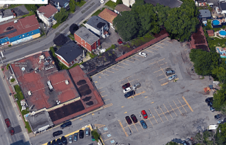 The Motel de Ville from above, 2015. Image: Google Maps.