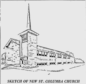 St. Columba. Source: Ottawa Citizen, November 12, 1958, p. 7.