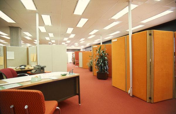 "Labour Office, Phase II. 1976. Image: Public Works / LAC Accession 1984-082 NPC Box TCS 00014 Item ""Labour Phase II""."