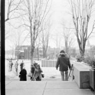 Phase I, Exterior Square. February 25, 1975. Image: Hans Blohm / LAC Accession 1983-074 NPC, Box 05504, Item 2345-4.