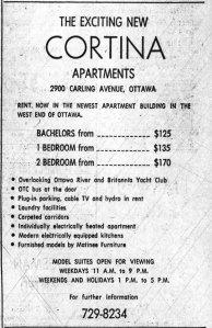 Advertisement for the Cortina. Source: Ottawa Journal, September 11, 1970, p. 39.