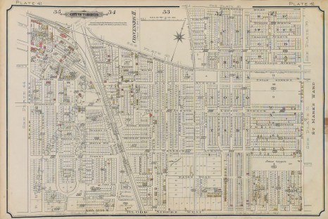 Beginning here in 1893, watch it grow!. Source: Goad's Atlas, 1893, Plate 41.