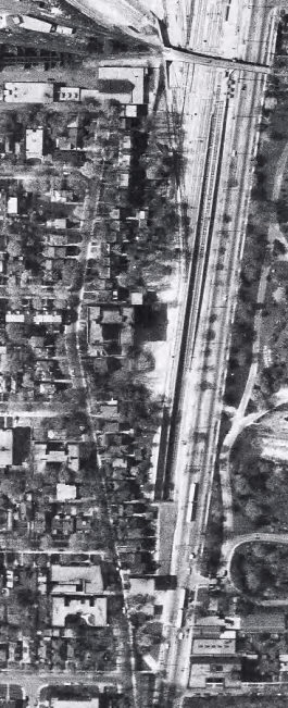 The strip in 1953, just as development was picking up. Image: City of Toronto Archives, Series 12, 1953, Item 135.