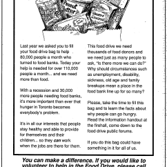 A 1991 advertisement for the Spring drive. Source: Toronto Star, March 25, 1991, D3.