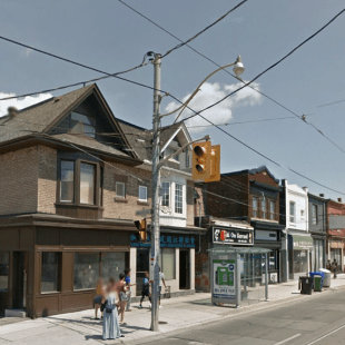 Gerrard East and Marjory, 2016. Image: Google Maps