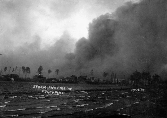 Storm and fire in Porcupine, 1911. Image: Canada. Patent and Copyright Office / Library and Archives Canada / PA-029820