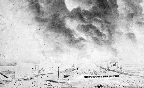 The Porcupine Fire, 1911. Image: Canada. Patent and Copyright Office / Library and Archives Canada / PA-203588.