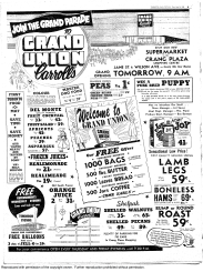 The Crang Plaza location opened in 1954. Source: Toronto Star, August 24, 1954, 9.