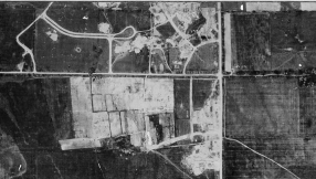 A young Thorncrest, from above, in 1947. Image: City of Toronto Archives, Series 12, Item 17B.