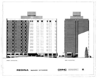 Source: CMHC.Project Notes: Regina Senior Citizens Apartment (Ottawa: CMHC, October 1970)