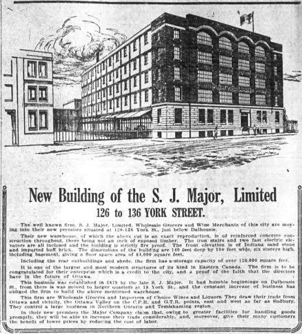 New headquarters. Source: Ottawa Journal, April 29, 1914, 29.