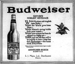 This Bud's for you. Source: Ottawa Journal, September 15, 1915, 11.
