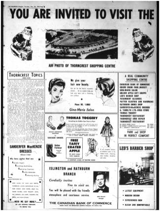 Better late than never. Source: Etobicoke Guardian, November 29, 1956, 6.