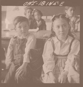 Questa, New Mexico. Spanish-American students in the grade school