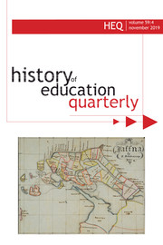 history of education quarterly - HES, 1960-2010