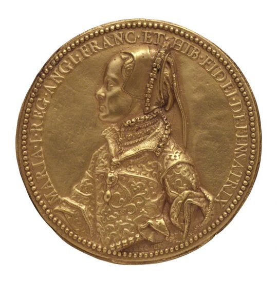 Queen Mary I after Jacopo da Trezzo gilt electrotype of medal, (circa 1555) NPG 446(1) © National Portrait Gallery, London
